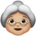 Old Woman: Medium-Light Skin Tone