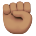 Raised Fist: Medium Skin Tone