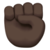 Raised Fist: Dark Skin Tone