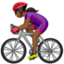 Woman Biking: Medium-Dark Skin Tone