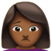 Woman Frowning: Medium-Dark Skin Tone