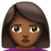 Woman Pouting: Medium-Dark Skin Tone