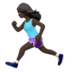 Woman Running: Dark Skin Tone