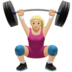 Woman Lifting Weights: Medium-Light Skin Tone