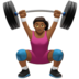 Woman Lifting Weights: Medium-Dark Skin Tone