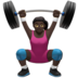 Woman Lifting Weights: Dark Skin Tone