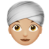 Woman Wearing Turban: Medium-Light Skin Tone