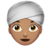 Woman Wearing Turban: Medium Skin Tone