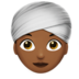 Woman Wearing Turban: Medium-Dark Skin Tone