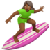 Woman Surfing: Medium-Dark Skin Tone