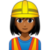 Woman Construction Worker: Medium-Dark Skin Tone