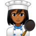 Woman Cook: Medium-Dark Skin Tone