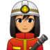 Woman Firefighter: Medium Skin Tone