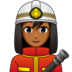Woman Firefighter: Medium-Dark Skin Tone