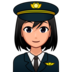 Woman Pilot: Medium-Light Skin Tone