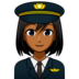 Woman Pilot: Medium-Dark Skin Tone