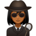 Woman Detective: Medium-Dark Skin Tone