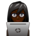 Woman Technologist: Dark Skin Tone