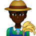 Man Farmer: Dark Skin Tone