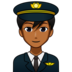 Man Pilot: Medium-Dark Skin Tone