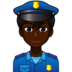 Man Police Officer: Dark Skin Tone