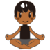 Man in Lotus Position: Medium-Dark Skin Tone