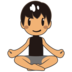 Man in Lotus Position: Medium Skin Tone
