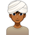 Man Wearing Turban: Medium-Dark Skin Tone