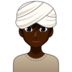 Man Wearing Turban: Dark Skin Tone