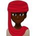 Man With Headscarf: Dark Skin Tone