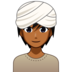Person Wearing Turban: Medium-Dark Skin Tone