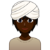 Person Wearing Turban: Dark Skin Tone