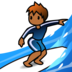 Person Surfing: Medium-Dark Skin Tone