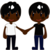 Men Holding Hands: Dark Skin Tone