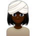 Woman Wearing Turban: Dark Skin Tone
