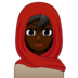 Woman With Headscarf: Dark Skin Tone