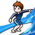 Person Surfing: Light Skin Tone