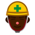 Construction Worker: Dark Skin Tone
