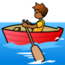 Person Rowing Boat: Medium-Dark Skin Tone
