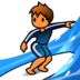 Person Surfing: Medium-Light Skin Tone