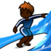 Person Surfing: Dark Skin Tone