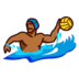 Person Playing Water Polo: Medium-Dark Skin Tone