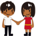 Woman and Man Holding Hands: Medium-Dark Skin Tone