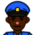 Police Officer: Dark Skin Tone