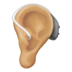 Ear With Hearing Aid: Medium-Light Skin Tone