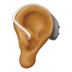 Ear With Hearing Aid: Medium Skin Tone