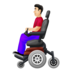Man in Motorized Wheelchair: Light Skin Tone