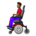 Man in Motorized Wheelchair: Medium-Dark Skin Tone