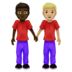 Men Holding Hands: Dark Skin Tone, Medium-Light Skin Tone