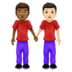Men Holding Hands: Medium-Dark Skin Tone, Light Skin Tone